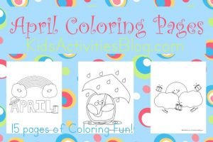 April coloring pages for kids