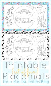 Printable Placemats for kids to color