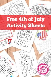 Free 4th of July Activity Sheets