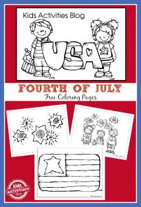 Fourth of July Free Coloring Pages for Kids