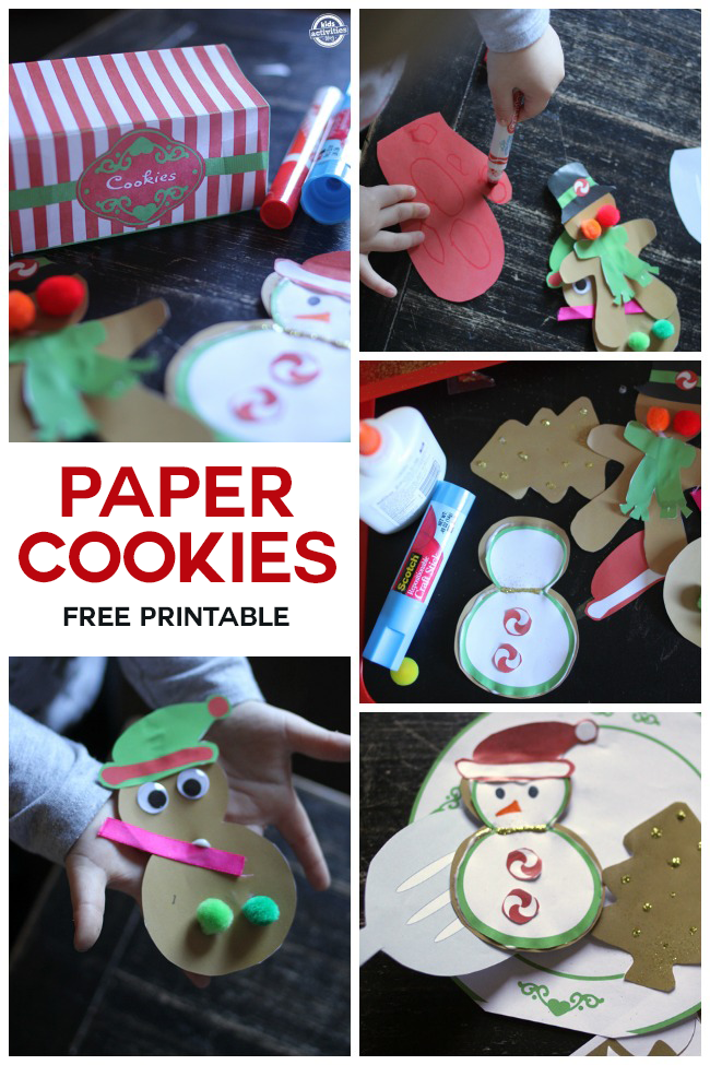 Christmas Paper Baking Printables for Kids