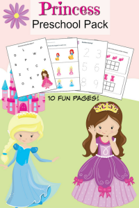 Printable Preschool Pack Princess Themed