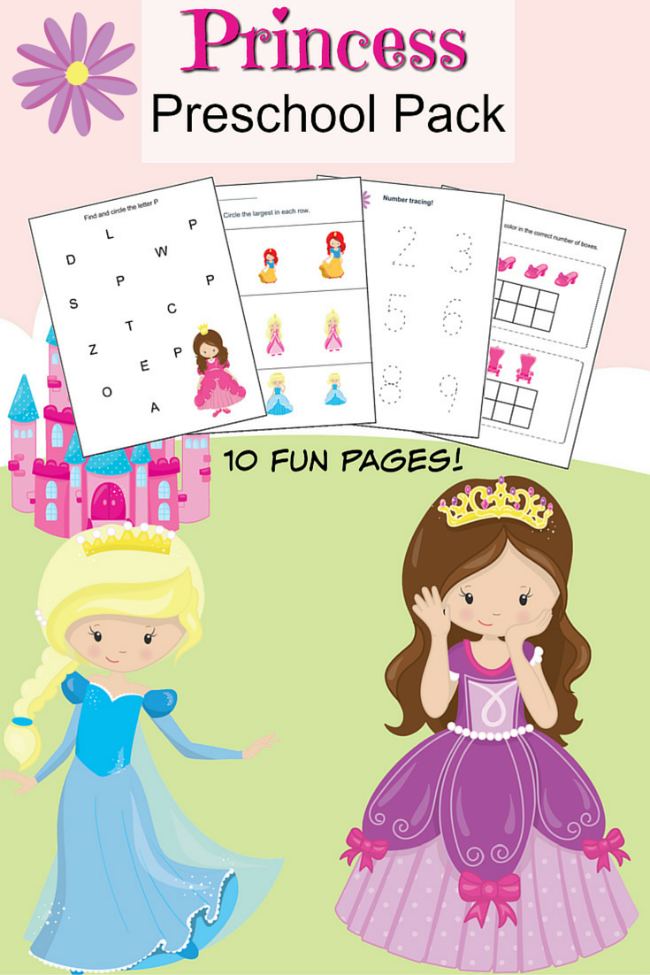 Princess Preschool Printable Worksheet Pack