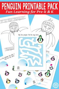 Preschool and Kindergarten learning pack printable