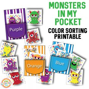 Monster in My Pocket Color Sorting Printable