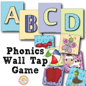 Phonics Wall Tap Game Printable