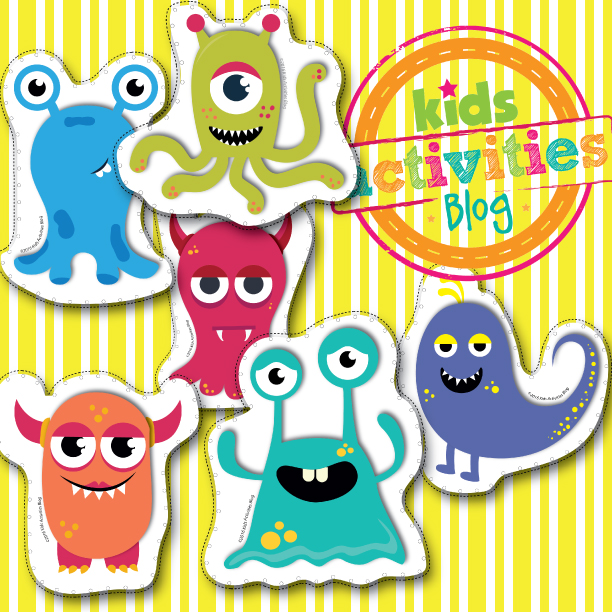 Silly Monsters Lacing Cards Printable