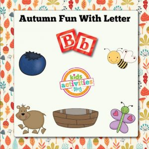 Autumn Alphabet Activities with Letter B