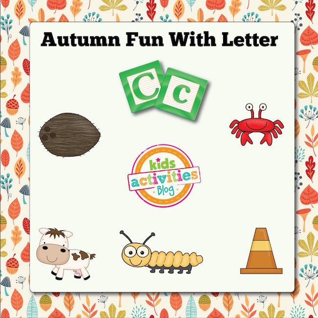 Autumn Alphabet Activities with Letter C