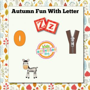 Autumn Alphabet Activities with Letter Z