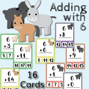 Barnyard Addition Clip Cards – Adding with 6