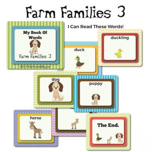 Farm Families Vocabulary Book