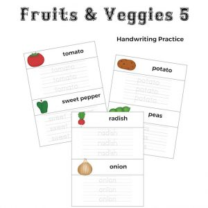 Fruits and Veggies Handwriting Practice