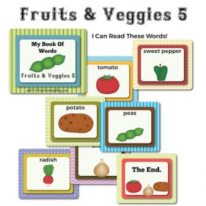 Fruits and Veggies Vocabulary Book