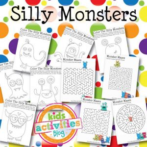 Silly Monster Coloring and Mazes