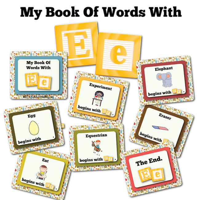 My Book Of Words with E