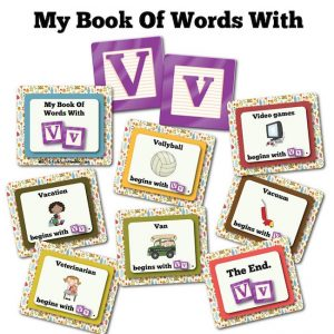 My Book Of Words with V