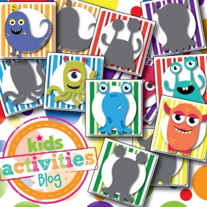 Silly Monsters Shadow Memory Matching Game