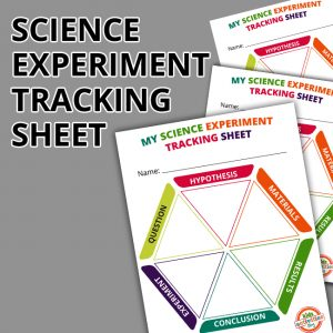 Science Experiment Tracking Sheet for Kids