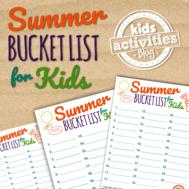 Check off your summer bucket list with this adorable Summer Bucket List Printable for Kids exclusively at The Printables Library at Kids Activities Blog!