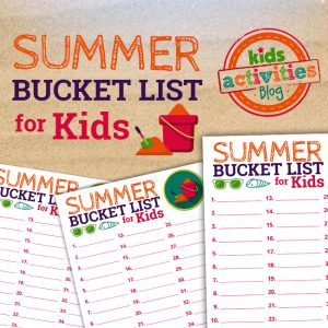 Kids' Summer Bucket List Printable