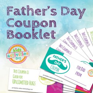 Printable Father's Day Coupon Book for Kids exclusively at The Printables Library at Kids Activities Blog