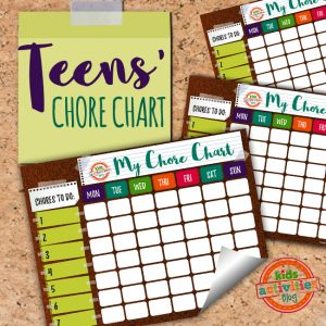 Chore Chart for Teens and Tweens - The Printables Library at Kids Activities Blog
