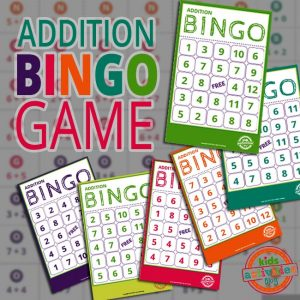 Addition BINGO Game for Kids