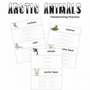 Arctic Animals Handwriting Practice