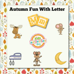 Autumn Alphabet Activities with Letter M