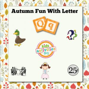 Autumn Alphabet Activities with Letter Q