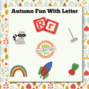 Autumn Alphabet Activities with Letter R
