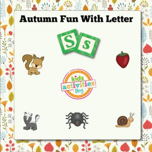 Autumn Alphabet Activities with Letter S