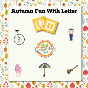 Autumn Alphabet Activities with Letter U