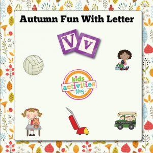 Autumn Alphabet Activities with Letter V
