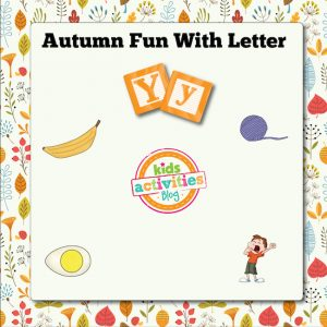 Autumn Alphabet Activities with Letter Y