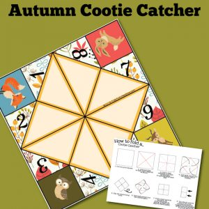 Autumn Cootie Catcher