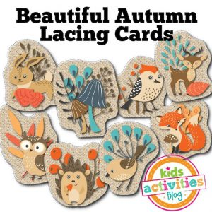Autumn Lacing Cards