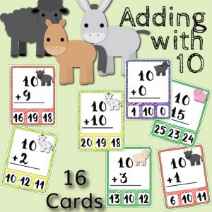 Barnyard Addition Clip Cards – Adding with 10