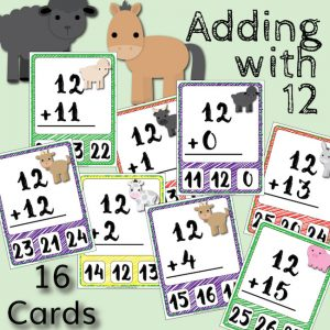 Barnyard Addition Clip Cards – Adding with 12