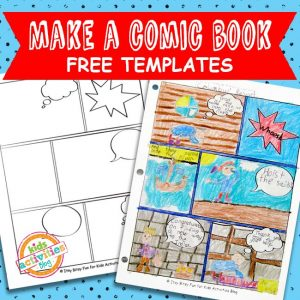 Comic Book Comic Strip Template
