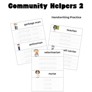 Community Helpers 2 Handwriting Practice