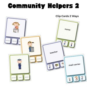 Community Helpers 2 Vocabulary Clip Cards