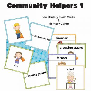 Community Helpers Flash Cards and Memory Game