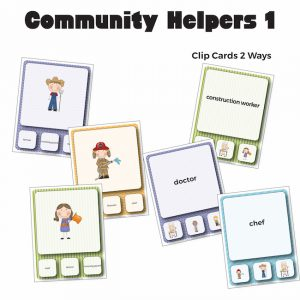 Community Helpers Vocabulary Clip Cards