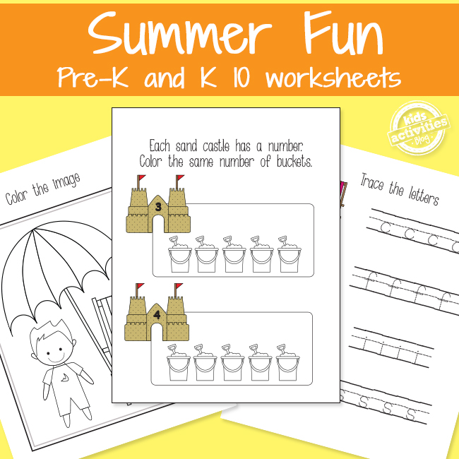 Summer Fun Learning Packet for KIds from The Printables Library at Kids Activities Blog