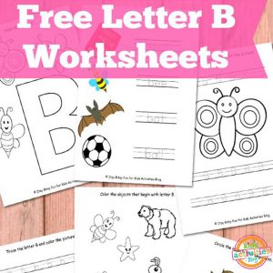 Letter B Preschool worksheets