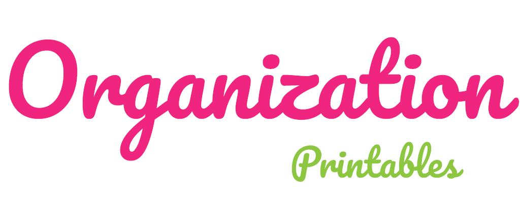 Organization Printables