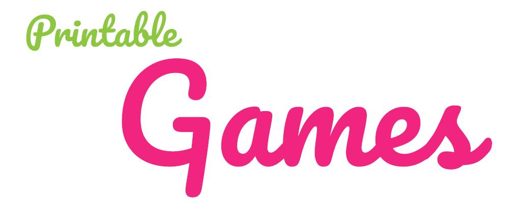 Printable Games