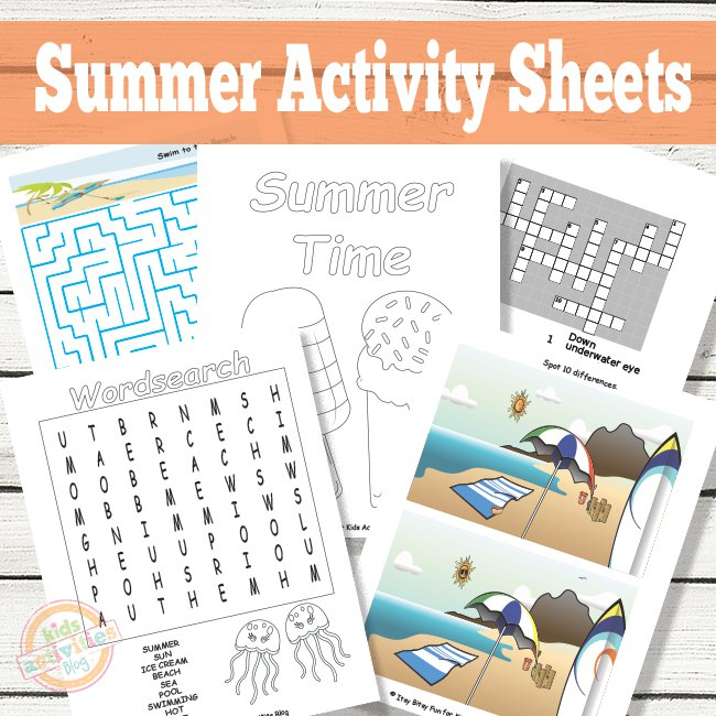 Summer Activity Sheets Printables for Kids The Printables Library